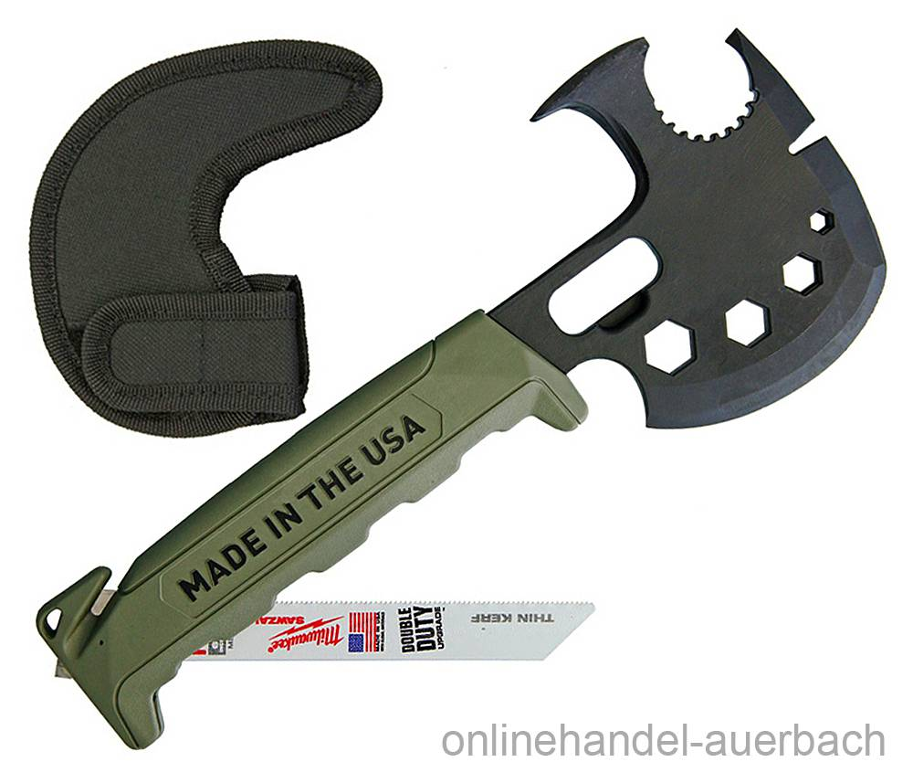 Off Grid Tools Survival Axe Elite Green